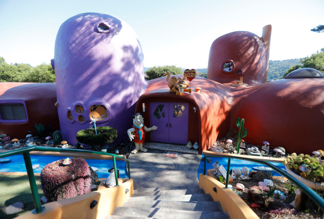 Inside the famed Flintstone House: Owner shows off latest additions to controversial Hillsborough property