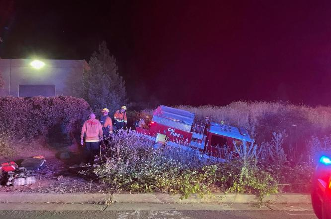 Police: Northern California inmate firefighter's wild ride wrecked firetruck
